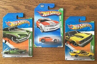 HOT WHEELS Treasure Hunt(Lot of 3)2010 Chevy Camaro, 2011 Tucker, '80 El Camino