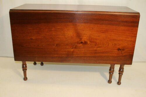 Solid Walnut Federal Drop Leaf Dining Table, 19th Century (Two Available)