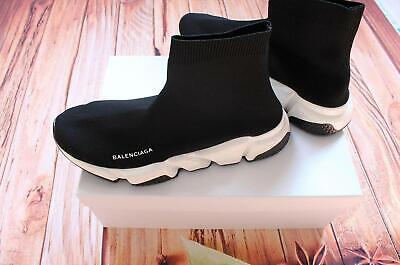 Hot sale sock Shoe Balenciaga Speed Trainer Runner Men's Size 10 Black whtie