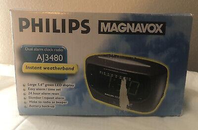 Philips Magnavox AM/FM/Weather Band Dual Alarm Clock Radio AJ3480