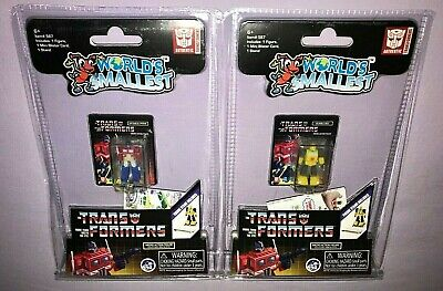 WORLDS SMALLEST TRANSFORMERS OPTIMUS PRIME & BUMBLEBEE **NEW**