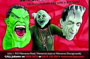 Costume and Fancy Dress Hire at Voo Joo's Wanneroo Wanneroo Area Preview