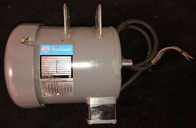 VINTAGE Delta Rockwell Unisaw 3 Phase Motor 3 Phase 3HP 3450 RPM Model 87-353 for sale  Lockport