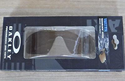 Neu in Box Oakley Radarlock Pitch Linse Polarisiert Bronze Wasser Gläser 41-953