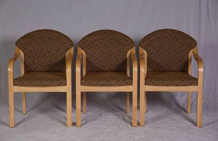 3 x Quality commercial grade reception area chairs. Made in WA