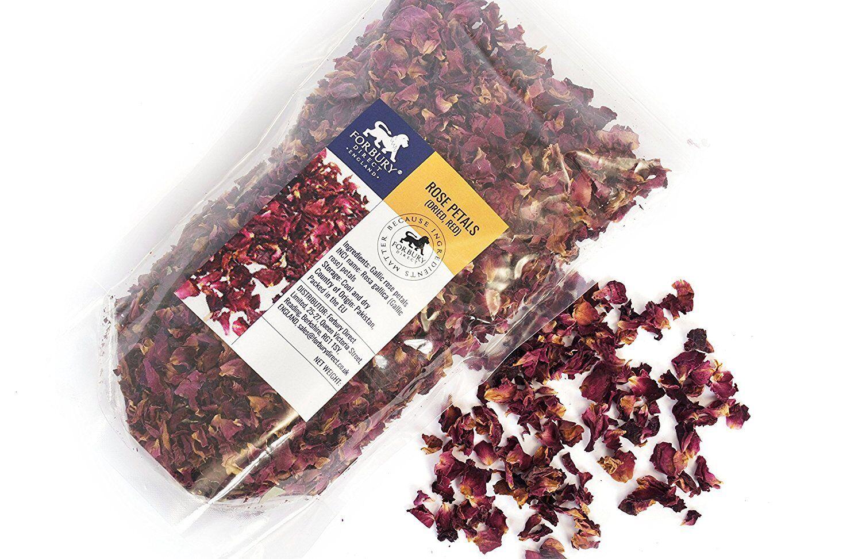 Rosenblüten, Rosenblätter, Blumenblätter rot getrocknet (Seifenherstellung?Deko)
