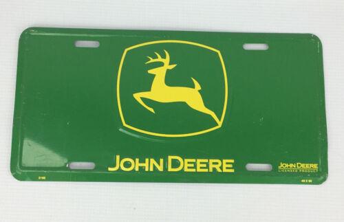 John Deere Tractor Aluminum License Plate - Green & Yellow