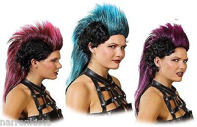 Punk Perücke Girl Punkgirl Punker Rocker Punkerin Rockerin Kleid Kostüm - Punk Rocker Kostüm Perücke