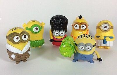 McDonald's Toys Despicable Me MINIONS Figures Lot Of 6