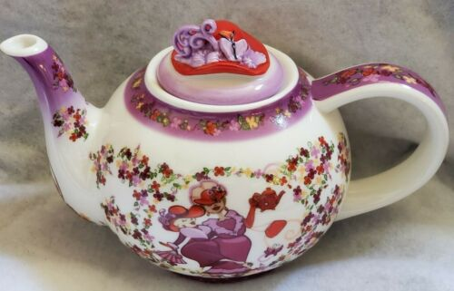 PAUL CARDEW 2004 RED HAT SOCIETY SMALL TEAPOT & LID