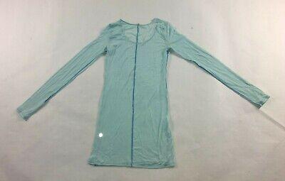 Women's Lululemon Dress Top Size 6 Blue Striped Lightweight Athletic Yoga #869