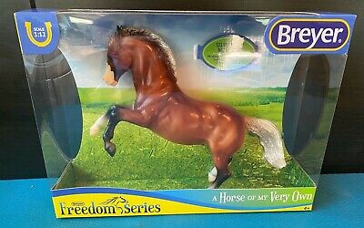 """BREYER Classics #947 Freedom Series """"Silver Bay Mustang"""" Scale 1:12"""