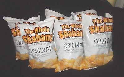 The Whole Shabang Super Seasoned Chips Snack Munchie 6 Bags!!