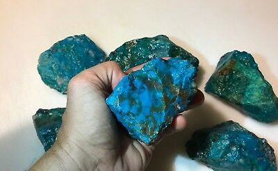 5 Pound Lots of  ALL NATURAL Chrysocolla & Turquoise Rough (Large Pieces) (WET)