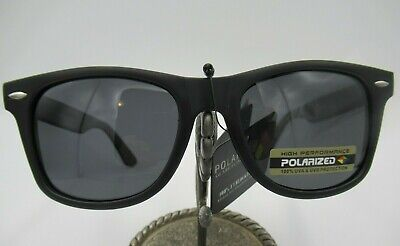 Wayfare Black Matte Polarized Sunglasses Retro UV400 Unisex Glasses Mens Ladies