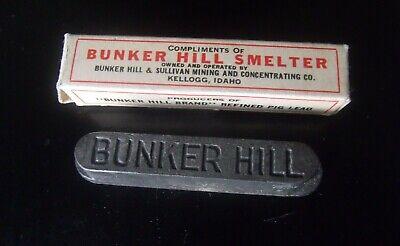 Vintage Bunker Hill Smelter, Kellogg, Idaho Lead Bar