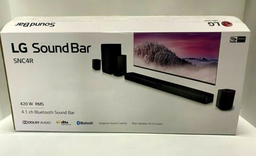 LG Sound Bar SNC4R 4.1 ch Bluetooth, Rear Surround Speakers, Black