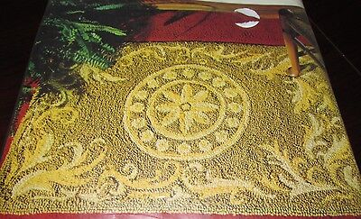 Vintage Aunt Lydia's TOLTEC SUN Rug Wall Hanging Pattern and Canvas Kit #684 NiP