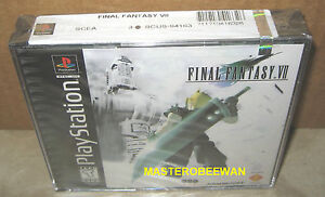 PS1-PSX-PLAYSTATION-ORIGINAL-BLACK-LABEL-FINAL-FANTASY-VII-7-NEW-SEALED-Y-FOLD