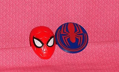 Spider-Man Ultimate Plastic Cupcake Rings,12 ct.,Red/Blue,DecoPac,Food Safe](Plastic Spider Rings)
