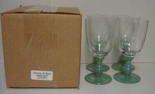 Villeroy & Boch ISABELLE GREEN (DARK JADE) Water Goblets SET OF FOUR More Here