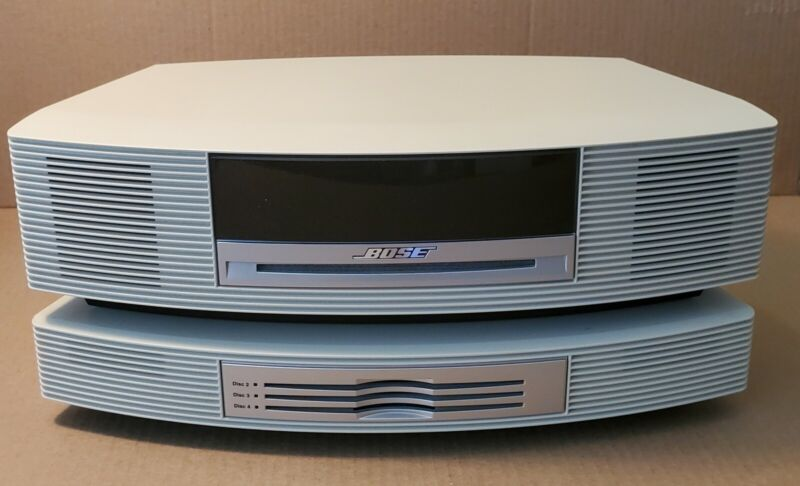 Bose Wave Music System AM/FM/CD  AWRCC2 + 3 Disc CD Charger !! TESTED !!  White
