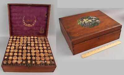 Lrg Antique 19thC Smith's Homeopathic Medical Pharmaceutical 99 Bottle Case Box