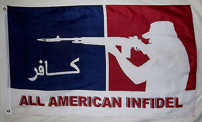 All American Infidel Red White And Blue Flag 3' x 5' Indoor Outdoor -