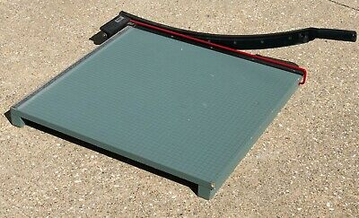 Vintage 1993 Premier W24a Heavy 24 Green Wood Base Commercial Art Paper Cutter
