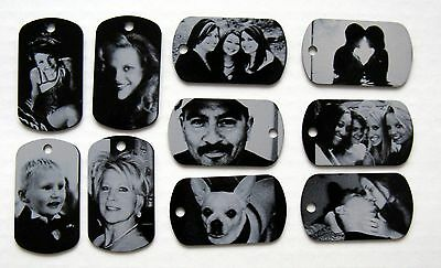 Personalized Metal Photo Dog Tag Necklace/Keychain - Free Custom - Personalized Metal Keychains