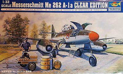 """TRUMPETER® 02261 Messerschmitt Me262A-1a """"Clear Edition"""" in 1:32"""