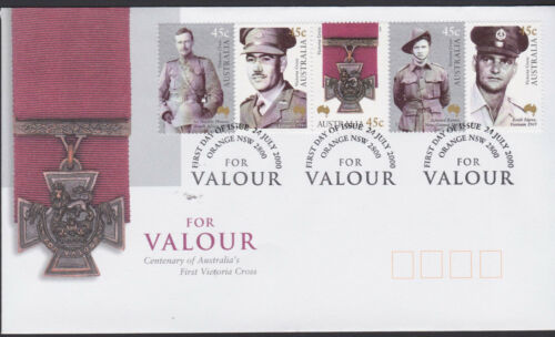 2000 Australia Military ANZAC Victoria Cross Centenary Valour Stamps FDC Cover