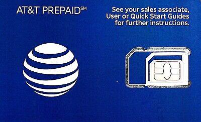 AT&T Prepaid SIM $50 Unlimited Talk & Text + 8GB 4G LTE Data [BEST
