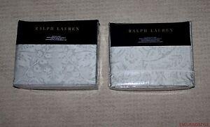 NEW-Ralph-Lauren-Home-Fleur-Du-Roi-Cotton-Gray-Silver-Duvet-Full-Queen-King