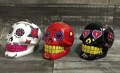 razy Bunt Mexikanisch Skull 15cm Keramik Schädel (Keramik-schädel)