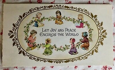 - Vintage Christmas Card Little Children of the World ~ Joy & Peace
