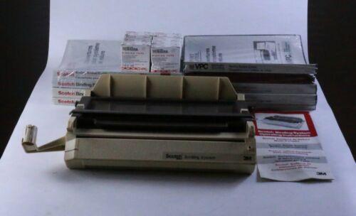 Scotch Binding System Model 7890 3M - w (9) binding covers (8) binding tape