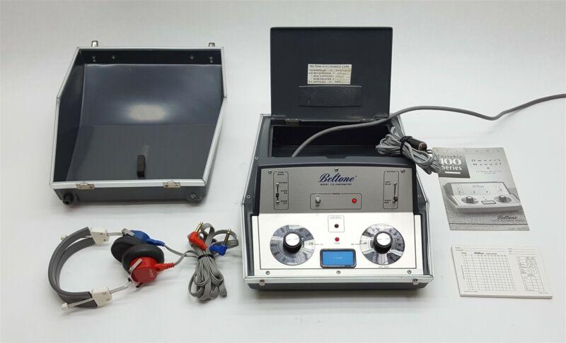 Beltone 119 Portable Hearing Screening Test Audiometer+Headphones+Audiogram