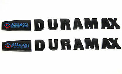 2 New Matte Black Duramax Diesel Allison LML Style 2500HD 3500HD Badges Emblems