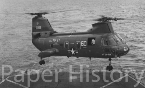 Authentic US Navy UH-46A Sea Knight Helicopter Landing Military 8x10 Photo