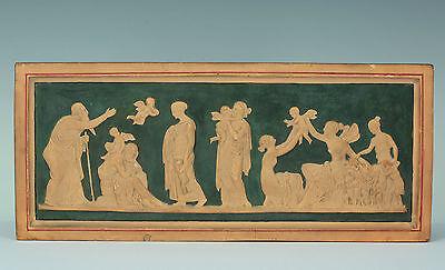 Allegorie der Liebesalter Thorvaldsen um 1880 Terracotta Painted Relief Plaque