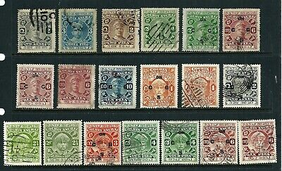 19 used stamps - India (Cochin)
