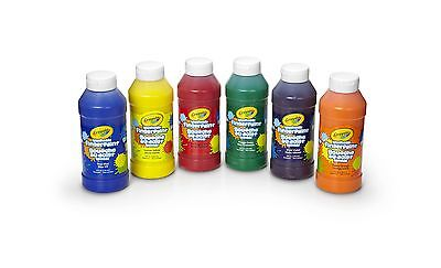 Crayola Washable FingerPaints, 6 Count, Painting Supplies, G