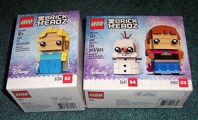LEGO Brickheadz Frozen Elsa Anna Olaf Set 41617 41618 NEW Disney Movie Let it GO