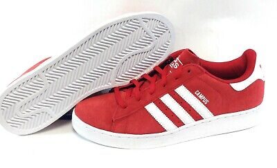 Youth Boys Girls Adidas Campus 2 G47156 Red Classic Sneakers Shoes DISPLAY (Indonesia Model Girl)
