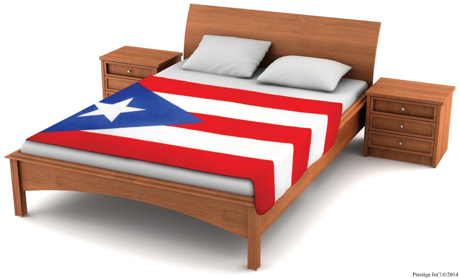 Fuzzy FlagsTM Fleece Puerto Rico Flag Blanket - 6.5 ft. x 4