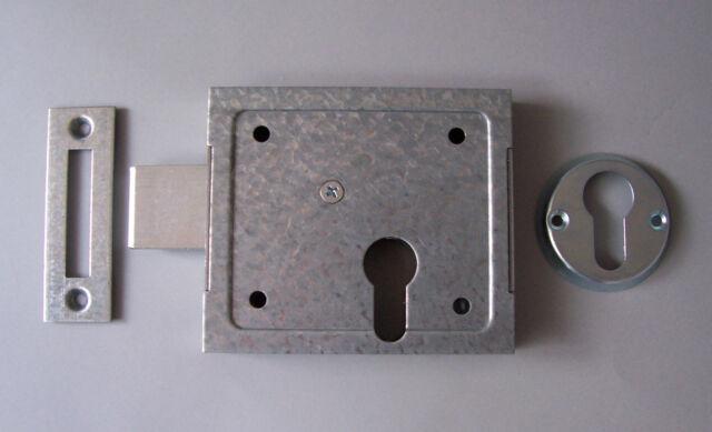 ABUS Aufschraubschloss für Profilzylinder m. Schließblech u. Rosette DIN L+R NEU