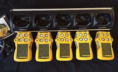 Gasalert Multigas Gas Monitor Detector H2slelcoo2 Bw Quattro X 5 Units