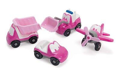 1 X Dantoy Pink Spaß-spiel Autos Pink Flugzeug Hubschrauber Cabriolet Bagger ()