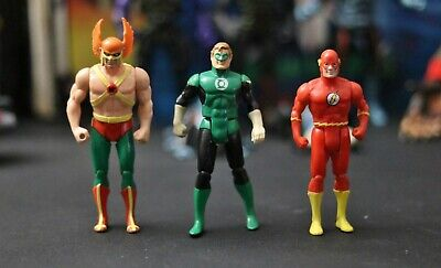 DC Super Powers Vintage 1984 Action Figures - Flash + Hawkman + Green Lantern